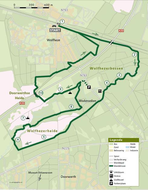 Kaart Wolfheeze